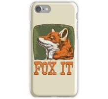FOX IT  iPhone Case/Skin