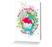 Christmas cupcake visions of exploding sugar plums Greeting Card