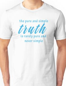 Wise Geeky Cool Inspirational Quote Unisex T-Shirt