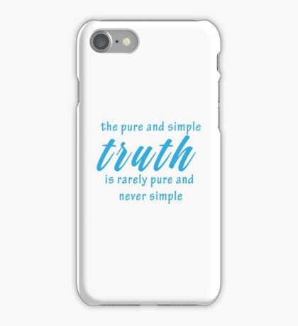 Wise Geeky Cool Inspirational Quote iPhone Case/Skin