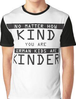 Funny German Kids Sticker Graphic T-Shirt