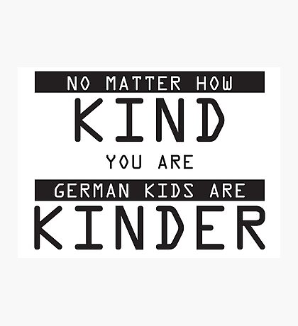 Funny German Kids Sticker Photographic Print