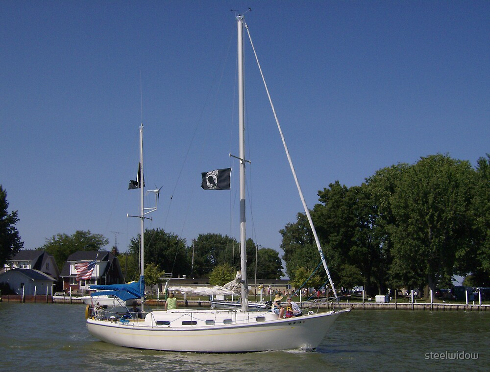 Sailboat at Port Clinton by steelwidow