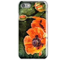 Oriental Poppies family iPhone Case/Skin