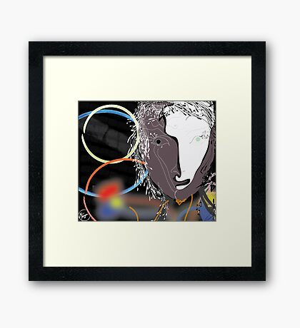 8DaysNoSleep Framed Print