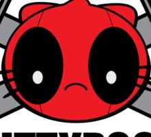 KITTYPOOL JOLLY ROGER ( LIKE THE DEADPOOL OF CATS )  Sticker