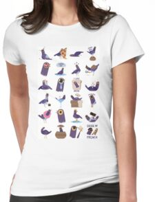 Trash Dove Meme Womens Fitted T-Shirt