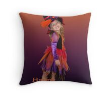 Happy Halloween -  Witch Throw Pillow