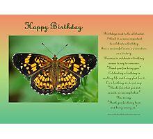 Happy Birthday Greeting Card Photographic Print