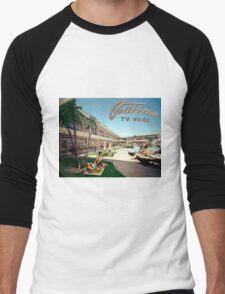 Caribbean Motel Wildwood New Jersey Retro 1960's Photographs Men's Baseball ¾ T-Shirt