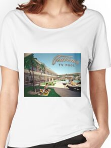 Caribbean Motel Wildwood New Jersey Retro 1960's Photographs Women's Relaxed Fit T-Shirt