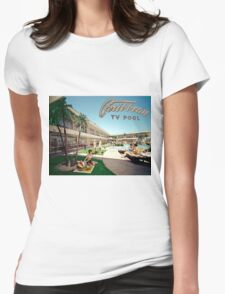 Caribbean Motel Wildwood New Jersey Retro 1960's Photographs Womens Fitted T-Shirt