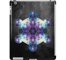 Metatron's Cube blue iPad Case/Skin