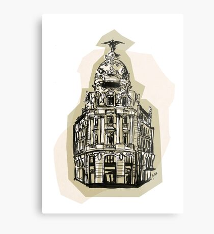 Madrid I Metal Print