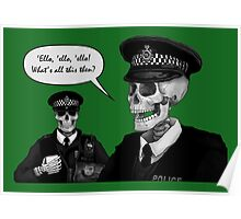 Skeleton Police (Green) Poster