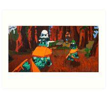 Lego Star Wars Chase Art Print