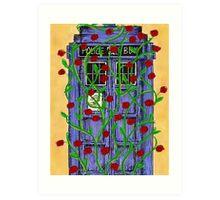 Tardis with Roses Art Print