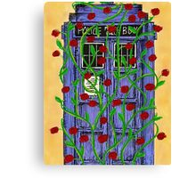 Tardis with Roses Canvas Print