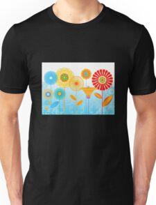Geometric flowers Unisex T-Shirt