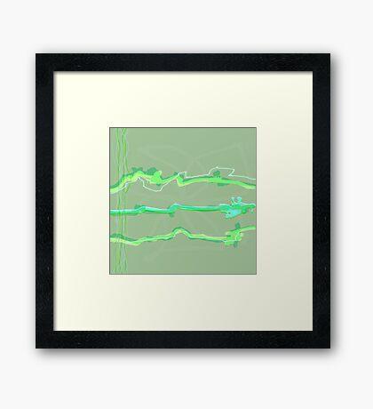 20170227 Green Green No. 7 Framed Print