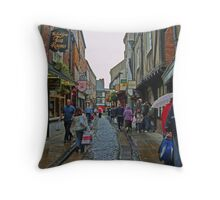 Shambles in York Throw Pillow