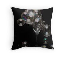 Can I offer you a glass of Bubbly? Throw Pillow