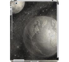 Earth, Moon, and the Milky Way Galaxy iPad Case/Skin