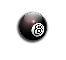 Eight Ball, Pool, 8 Ball, Eight ball, The Hustler by TOM HILL - Designer