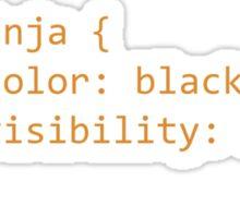 CSS Coding Ninja  Sticker