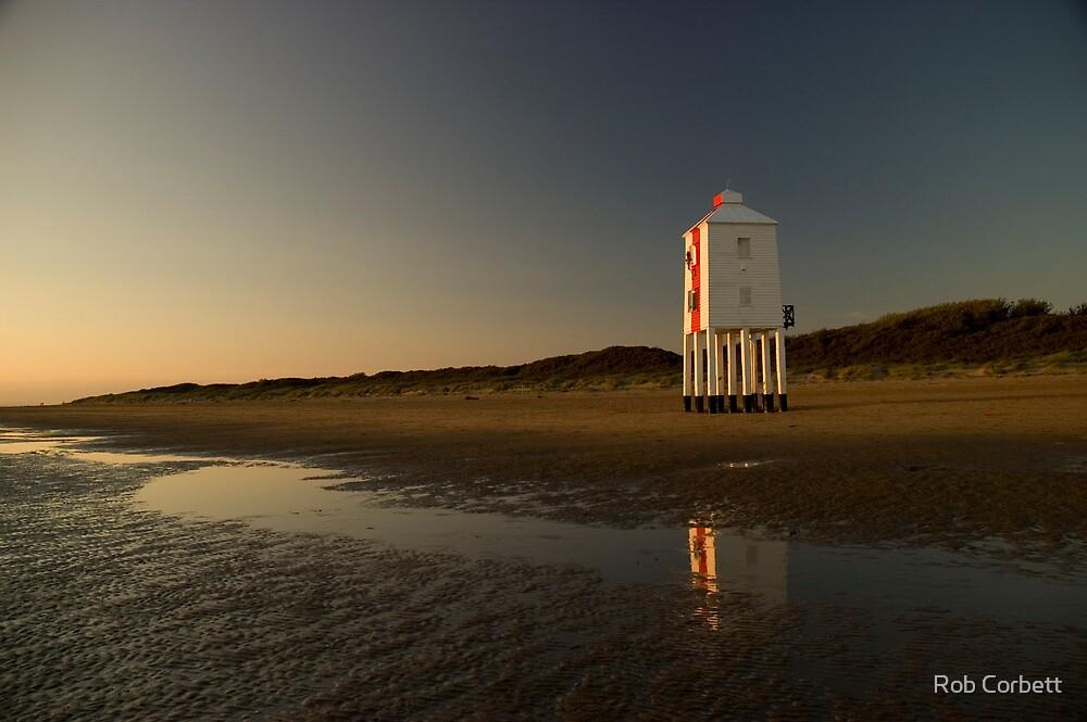 Burnham-on-sea 'low' lighthouse. Sunset. by Rob Corbett