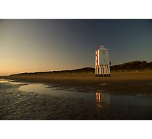 Burnham-on-sea 'low' lighthouse. Sunset. Photographic Print