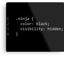 CSS Coding Ninja  Metal Print