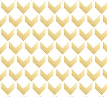 Gold Chevron pattern Hex by row by o2creativeNY