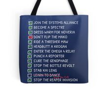 Commander Shepards To-Do List Tote Bag