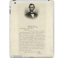 Handwritten Letter from Abraham Lincoln iPad Case/Skin