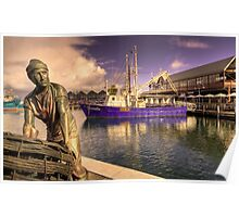 Fishing Boat Harbour - Fremantle  WA Poster