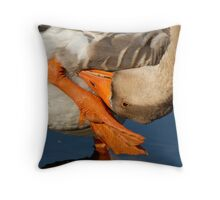 Upside Down Goose Throw Pillow
