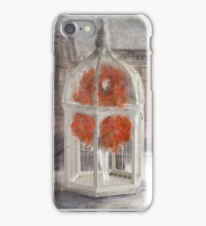 The girl in the birdcage iPhone Case/Skin