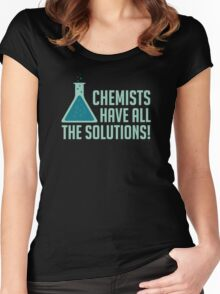 Chemists Have All The Solutions Women's Fitted Scoop T-Shirt