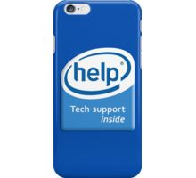 Funny Intel Parody Logo Computer Tech Support iPhone Case/Skin