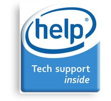 Funny Intel Parody Logo Computer Tech Support Canvas Print