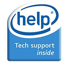 Funny Intel Parody Logo Computer Tech Support Photographic Print