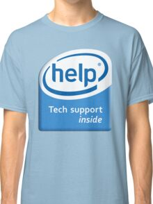 Funny Intel Parody Logo Computer Tech Support Classic T-Shirt