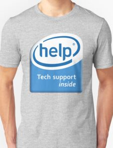 Funny Intel Parody Logo Computer Tech Support Unisex T-Shirt