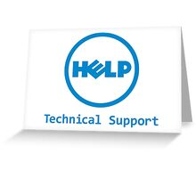 Funny Dell Parody Logo Computer Tech Support Greeting Card
