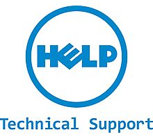 Funny Dell Parody Logo Computer Tech Support Photographic Print