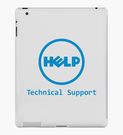 Funny Dell Parody Logo Computer Tech Support iPad Case/Skin