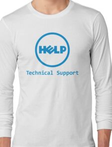 Funny Dell Parody Logo Computer Tech Support Long Sleeve T-Shirt