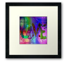 Where we love each other, it is never dark. Framed Print