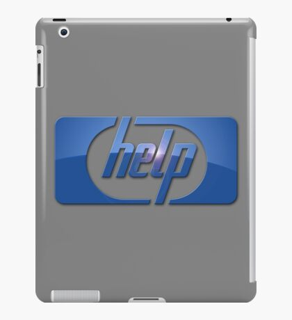 Funny HP Parody Logo Computer Tech Support iPad Case/Skin
